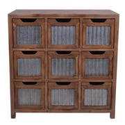Cheungs Wooden 9 Slot Square Drawer w/ Accent Chest
