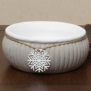 ZiaBella Stone Ribbed Snowflake Decorative Bowl; 3'' x 6.25'' x 6.25''