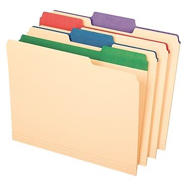 Pendaflex® Color Tab File Folders, Letter size, Assorted Colors, 50/BX