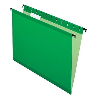 Pendaflex® SureHook® Reinforced Hanging File Folders, 5 Tab Positions, Letter Size, Bright Green, 20/Box (6152 1/5 BGR)
