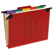 Pendaflex® Personnel Folders, Hanging Style, Red