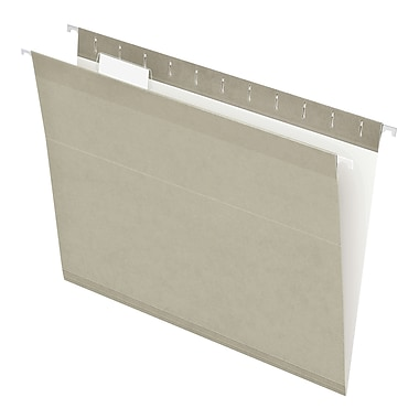 Pendaflex® Reinforced Hanging File Folders, 5 Tab Positions, Letter Size, Gray, 25/Box (4152 1/5 GRA)