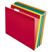 Pendaflex® Reinforced Hanging File Folders, 5 Tab Positions, Letter Size, Assorted Colors, 25/Box (4152 1/5 ASST)