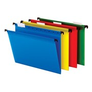 Staples® Poly Hanging Folders, 5 Tab, Letter, Assorted Colors, Each (30561)