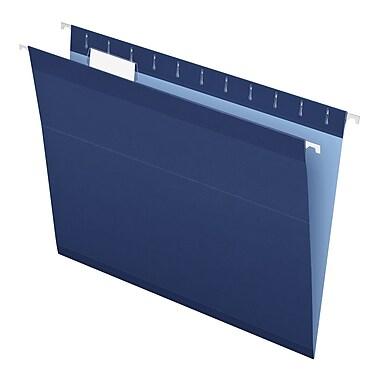 Pendaflex® Reinforced Hanging File Folders, 5 Tab Positions, Letter Size, Navy, 25/Box (4152 1/5 NAV)