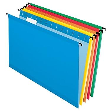 Pendaflex® SureHook® Reinforced Hanging File Folders, 5 Tab Positions, Legal Size, Assorted Colors, 20/Box (6153 1/5 ASST)