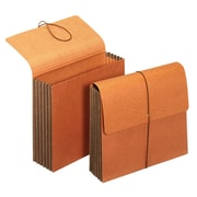 """Staples® Extra-Wide Standard Wallets, 5-1/4"""" Expansion, Letter, Brown, 2/PK (18937)"""