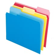 Pendaflex® Write & Erase File Folders, Assorted, Letter-size, 12/Pk