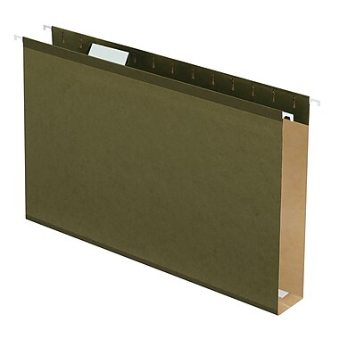 Pendaflex® Extra Capacity Reinforced Hanging Folders, 2in., 5 Tab, Legal Size, Standard Green, 25/box (4153X2)
