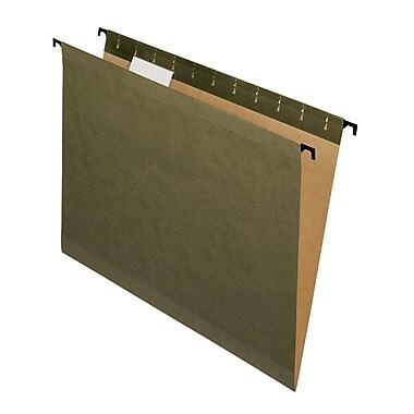 Pendaflex® SureHook® Reinforced Hanging File Folders, 5 Tab Positions, Letter Size, Standard Green, 20/Box (6152 1/5)