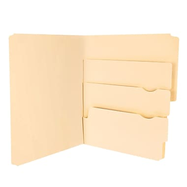 Pendaflex® Divide It Up® File Folders, Letter Size, Manila, 24/Pack (10770)