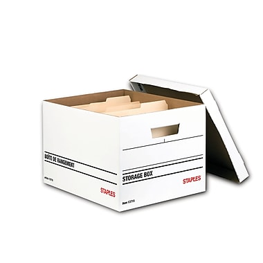 Staples® Medium-Duty Storage Box, 6/Pack