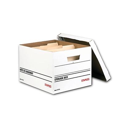 Staples® - Boîtes d'entreposage pour usage moyen, paq./6