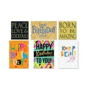 "Viabella Traditional Birthday Assortment, Birthday, 5"" x 7"", 6/Pack"