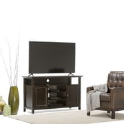 Simpli Home Amherst Wooden TV Stand, Dark American Brown