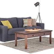 Simpli Home Artisan Metal Coffee Table, Medium Wood, Each (AXCHOL001)