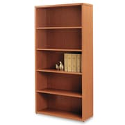 "HON® 10500 Series™ Laminate Bookcase, 5-Shelves, 71"", Standard, Bourbon Cherry (105535HH)"