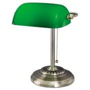 "Alera® Banker's Lamp, 10 1/2"" x 11"" x 13"", Antique Brass (L557BR)"