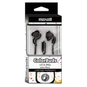 Maxell® Colorbuds with Microphone, Black (199708)
