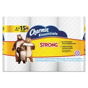 Charmin® Essentials Strong™ Bathroom Tissue, 1-Ply, White, 6/Pack (96892PK)