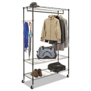 "Alera® Wire Garment Rack, 5 Hooks Hooks, Steel, 48"" x 18"" x 75"", Black (GR354818BL)"