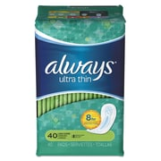 Always® Ultra Thin Pads, Super Long, 40/Pack (32494PK)