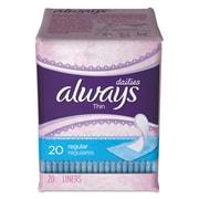 Always® Dailies Thin Liners, Regular, 24/Carton (08279)