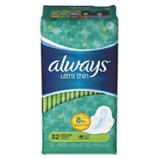 Always® Ultra Thin Pads with Wings, Super Long, 32/Pack (95251PK)