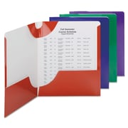 Smead® Campus.org® Lockit® Two-Pocket Folder, 11 x 8 1/2, Assorted, 8/Pack (87800)