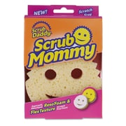 Scrub Daddy® Scrub Mommy® Dual-Sided Sponge, Yellow, Each (SMPDQ)