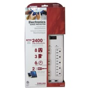 PRIME® Electronics Surge Protectors, 8 Outlets, 6 ft Cord, Each (PB523120)