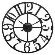 "Bulova Gabriel Wall Clock, 45"" x x 45"", Rustic Brown, Analog (C4821)"