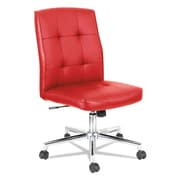 OIF Slimline Swivel/Tilt Task Chair, Textured Polyurethane, Red (NT4936)