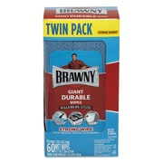 """Brawny® Giant Durable Disinfecting Wipes, 10 1/5"""" x 8 3/8"""", Citrus, 60/Pack (33071/01)"""