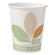 SOLO® Cup Company Bare® Eco-Forward® PLA Paper Hot Cups, 10 oz, White/Green/Orange, 50/Pack (370PLA-J7234)