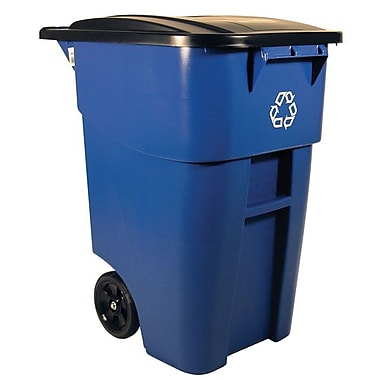 Rubbermaid Brute® Rollout Waste Receptacle Container, 189.3-Litre, Blue