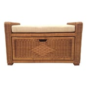 RattanWickerHomeFurniture Eva Rattan Wicker Storage Trunk; Light Brown