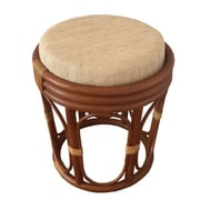 RattanWickerHomeFurniture Romeo Rattan Ottoman; Light Brown