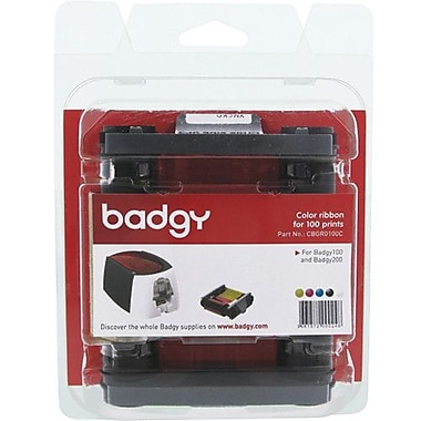 Evolis Badgy Colour Ribbon for Badgy100/200 Printers, 100 Prints