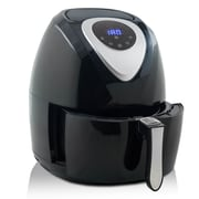 Modernhome - Digital Touch-Activated Air Fryer with Black and Stainless Steel Accents