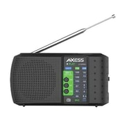 Axess® High Sensitivity Portable Alarm Clock Radio, Black (PR3206)