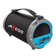 """Axess® Indoor/Outdoor HIFI Bluetooth Speaker with 4"""" Subwoofer/Vibrating Disk, Blue (SPBT1037)"""