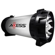 Axess® SPBT1065 30 W Bluetooth Rechargeable Speaker with LED Lights, Gray