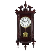 "Bedford Analog 31"" Cherry Oak Classic Chiming Wall Clock (BED-1611)"