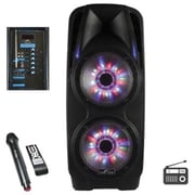 """BeFree Sound 2 x 10"""" Woofer Portable Bluetooth Powered PA Speaker (BFS7900)"""