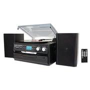 Boytone™ 3-Speed Stereo Turntable with CD/Cassette Player, Black (BT-24DJB)