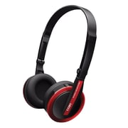 Coby® CV145 Jammerz Wired Over-the-Head Folding Deep Bass Stereo Headphone, Red