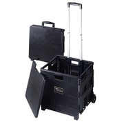 Craig Titan Versatile Folding Storage Cart with Removable Lid, Black (TCC604)