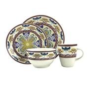 Elama® Country Sunrise 16 Piece Stoneware Dinnerware Set (94397047M)