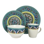 Elama® Santa Fe Springs 16 Piece Stoneware Dinnerware Set (94397048M)